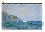 Cliffs And Sailboats At Pourville  Carry-all Pouch