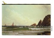 Cliffs At Cape Elizabeth Carry-all Pouch by Alfred Thompson Bricher