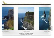 Cliffs Of Moher Ireland Triptych Carry-all Pouch