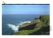 Cliff's Of Moher With White Water At The Base In Ireland Carry-all Pouch