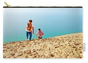 Climbing Up The Dune From Lake Michigan In Sleeping Bear Dunes National Lakeshore-michigan Carry-all Pouch
