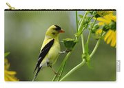 Clinging Goldfinch Carry-all Pouch