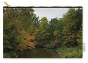 Clinton River In Autumn Cloudy Day Carry-all Pouch