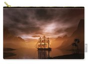 Clipper Ship At Sunset Carry-all Pouch