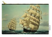 Clipper Ships Racing To Port Carry-all Pouch