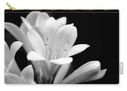 Clivia Flowers Black And White Carry-all Pouch