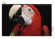 Close-up Funny Portrait Green-winged Macaw, Ara Chloroptera, Isolated Black Background Carry-all Pouch by Sergey Taran