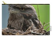 Close Up Look At A Tawny Frogmouth Sitting In A Nest Carry-all Pouch