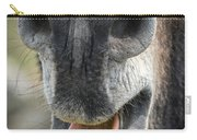 Close-up Of A Donkey's Mouth Carry-all Pouch