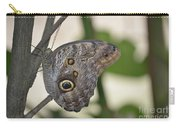 Close Up Of A Pretty Brown Morpho Butterfly  Carry-all Pouch