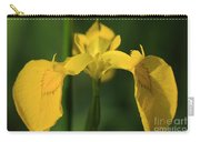 Close Up Of A Yellow Bearded Iris Carry-all Pouch