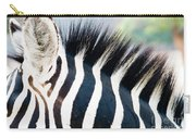 Close Up Of A Zebra Carry-all Pouch