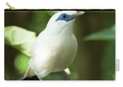 Close-up Of Bali Myna Bird In Trees Carry-all Pouch