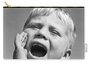 Close-up Of Boy Shouting, C.1950s Carry-all Pouch