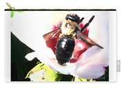 Close Up Of Bumble Bee On Flower Carry-all Pouch