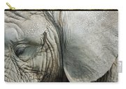 Close Up Of Eye And Ear Of An Elephant Carry-all Pouch