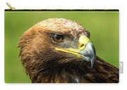 Close-up Of Golden Eagle With Turned Head Carry-all Pouch