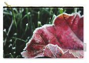Close Up Of Leaf And Frost Carry-all Pouch