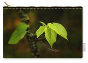 Close Up Of Leaves In Forest Carry-all Pouch