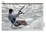 Close-up Of Male Kite Surfer In Cap Carry-all Pouch