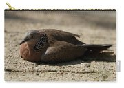 Close-up Of Mottled Pigeon On Sandy Ground Carry-all Pouch