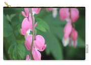 Close Up Of Peacock Pink Bleeding Hearts On Hunter Green Foliage 2 Carry-all Pouch