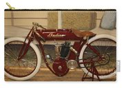 close up of red Indian motorcycle   # Carry-all Pouch