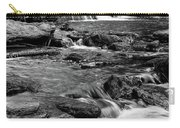 Close Up Of Reedy Falls In South Carolina B W Carry-all Pouch