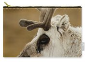 Close-up Of Reindeer Head On Snowy Ridge Carry-all Pouch