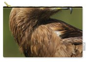 Close-up Of Sunlit Golden Eagle Looking Back Carry-all Pouch