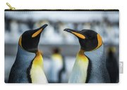 Close-up Of Two King Penguins In Colony Carry-all Pouch