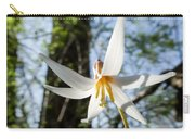 Close-up Of White Trout Lily Carry-all Pouch