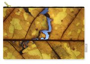 Close Up Of Yellow Leaf Carry-all Pouch