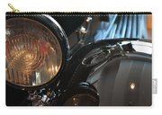 Close Up On Black Shining Car Round Light Carry-all Pouch