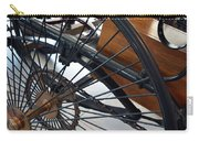 Close Up On Vintage Wheel Of Bicycle  Carry-all Pouch