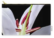 Close-up Photograph Of A White Oriental  Lily Carry-all Pouch