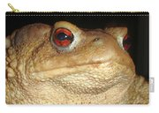 Close Up Portrait Of A Common Toad Carry-all Pouch