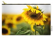 Close Up Single Sunflower In South Dakota Carry-all Pouch