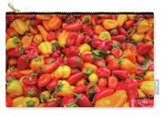 Close Up View Of Small Bell Peppers Of Various Colors Carry-all Pouch