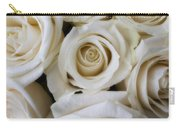 Close Up White Roses Carry-all Pouch