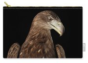 Close-up White-tailed Eagle, Birds Of Prey Isolated On Black Bac Carry-all Pouch