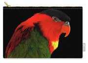 Close-up Yellow-bibbed Lory, Lorius Chlorocercus, Isolated On Black Background Carry-all Pouch by Sergey Taran