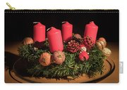 Closeup Of An Advent Wreath, Unlit Candles Carry-all Pouch