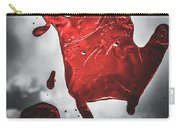 Closeup Of Scary Bloody Hand Print On Glass Carry-all Pouch