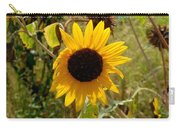 Closeup Of Sunflower In Farm Carry-all Pouch