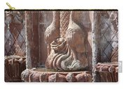 Closeup Of Terracotta Water Fountain In Full Color La Quinta Art District Photograph Carry-all Pouch