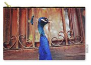 Closeup Portrait Of A Peacock Peafowl Carry-all Pouch