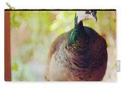Closeup Portrait Of A Peafowl Carry-all Pouch