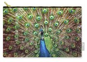 Closeup Portrait Of An Indian Peacock Displaying Its Plumage Carry-all Pouch