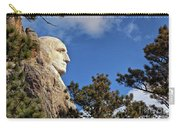 Closeup Profile Of George Washington At Mount Rushmore National Memorial In South Dakota Carry-all Pouch by Sam Antonio Photography
